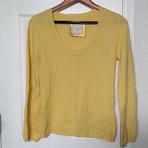 Old Navy yellow cashmere sweater.
